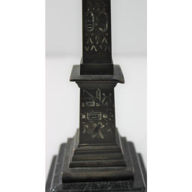 Mid 19th Century Antique 1836 Bronze Obelisk De Luxor Reign of Louis Philippe For Sale - Image 5 of 13