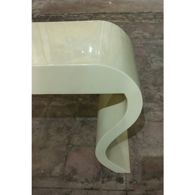 Lacquered Goat Skin Console Table For Sale In Los Angeles - Image 6 of 8