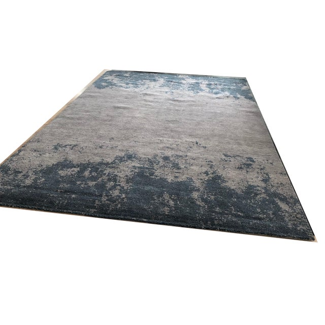 Contemporary Atelier Lapchi Nebulous Gray Wool Hand Knotted Rug - 8' X 11' For Sale - Image 3 of 6