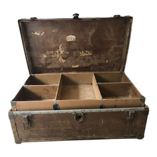 1910s Americana World War I Marines Military Trunk For Sale
