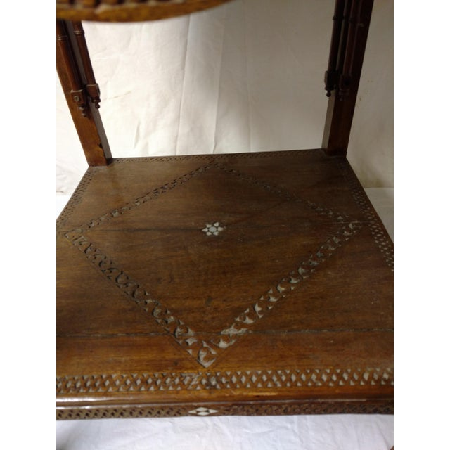 19th Century Anglo Indian Inlaid Wood Tea Table For Sale In Sacramento - Image 6 of 10