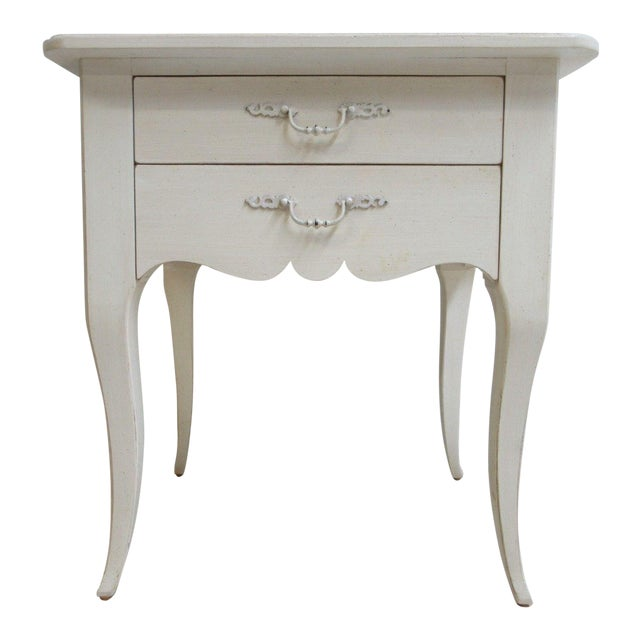 Ethan Allen Maison French Country Lamp End Table / Night Stand - Image 1 of 6