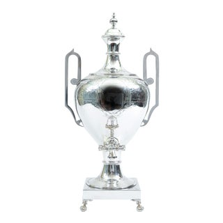 English Sheffield Regency Silver Plated Footed Samovar For Sale