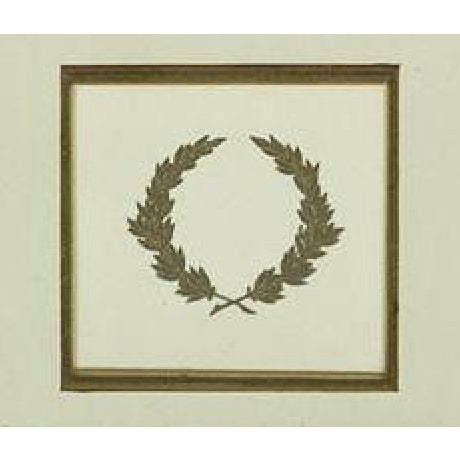 Charming pencil drawing of a classic c1970s interior study beautifully custom framed with inset gilt wreath!~