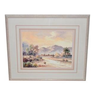 James Lee Sonoran Desert Landscape Oil Painting For Sale