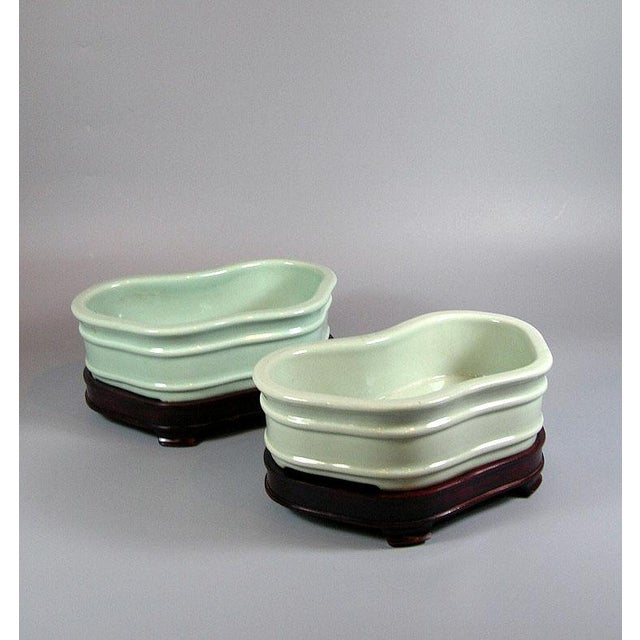 19th Century Chinese Celadon Butterfly Bowls - a Pair For Sale - Image 11 of 11