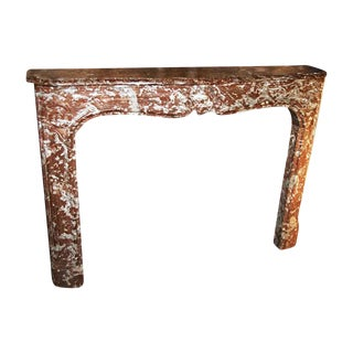 Early 20th Century Antique Louis XV Style Brown Marble Mantel