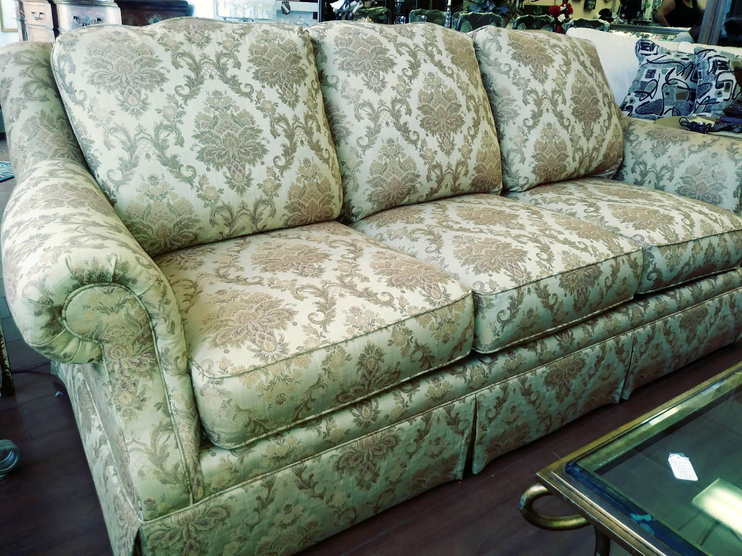Clayton Marcus Gold Paisley Sofa Chairish