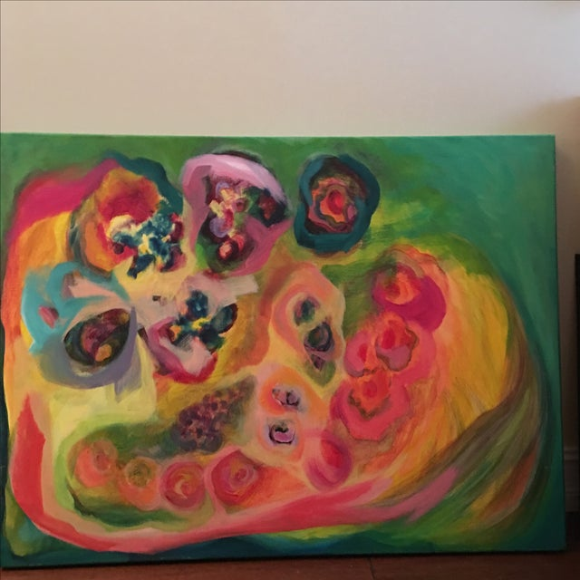 Original Acrylic Floral Painting - Image 4 of 4