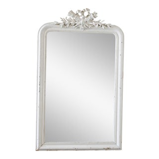 Late 19th Century Antique Painted Louis Philippe Style Mirror For Sale
