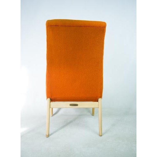 Norman Bel Geddes Mid-Century Modern Orange Side Chair - Image 5 of 9