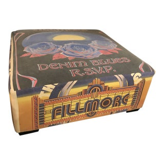 Fillmore Square Coffee Table Ottoman For Sale