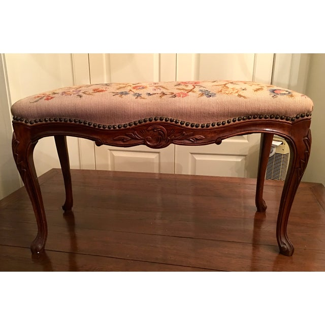 Louis XV Style Needlepoint Bench - Image 2 of 5