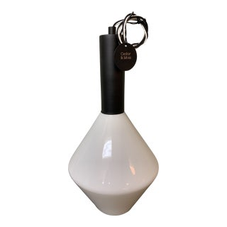 Cedar and Moss Aurora Black and White Pendant Light For Sale