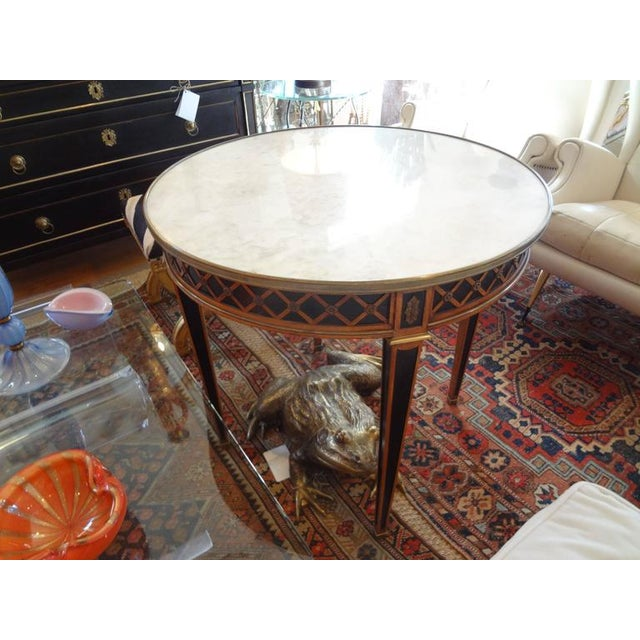 Bronze 1940 French Louis XVI Style Maison Jansen Table For Sale - Image 7 of 8
