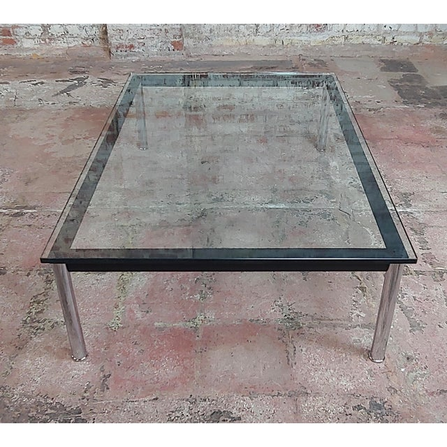 Cassina Le Corbusier for Cassina Vintage Rectangular Glass Top Coffee Table For Sale - Image 4 of 10