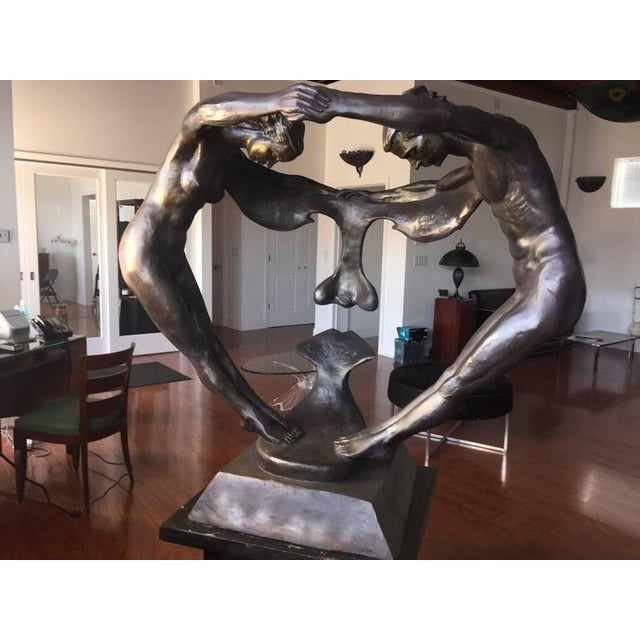 "Bronze ""We Two Together"" Sculpture For Sale - Image 9 of 10"