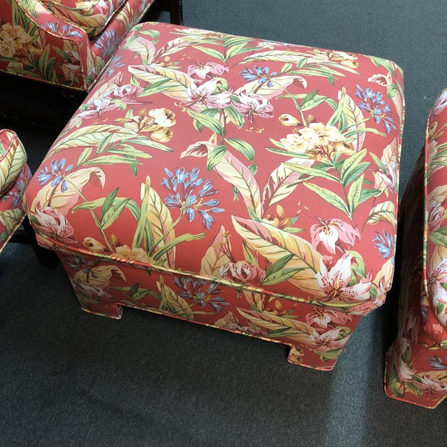 Marge Carson Ottomans - A Pair - Image 3 of 12