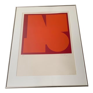 1960s Vintage Jo Delahaut Abstract Geometric Serigraph Silkscreen Print For Sale