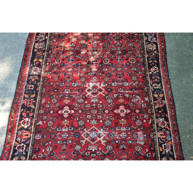 "Persian Distressed Floral Carpet - 9' 4"" X 4' 8"" For Sale In Richmond - Image 6 of 12"