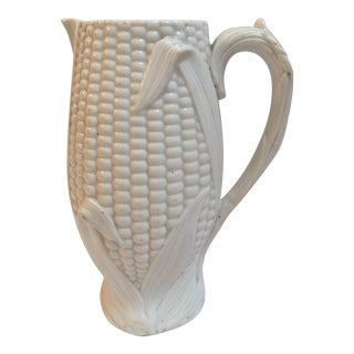 Vintage English Salt Glaze Corn Pitcher