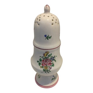 K & G Luneville France Strausbourg Muffineer Sugar Shaker For Sale