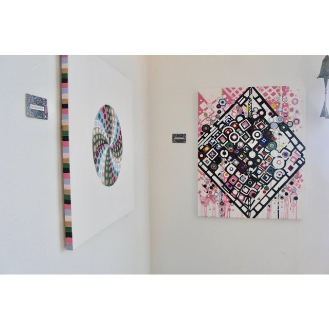 Canvas Final Markdown/Contemporary Spiral Painting by Natasha Mistry For Sale - Image 7 of 12
