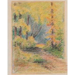 1920s California Landscape Drawing Harnett For Sale