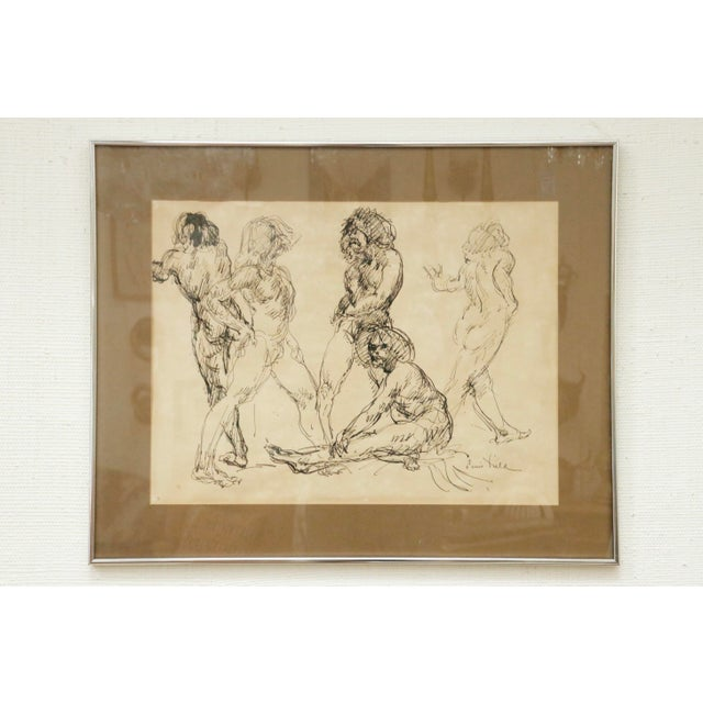 """Black """"Five Nudes"""" Line Drawing by Louis Field For Sale - Image 8 of 8"""