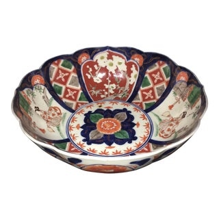 19th Century Large Hand Painted Imari Bowl For Sale