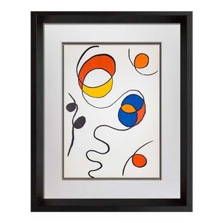 1968 Alexander Calder Limited Edition   Color W/Frame Included For Sale