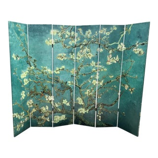 Chinoiserie Folding Screen Printed on Canvas For Sale