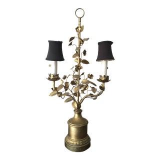 Antique Italian Gilt Tole Lamp