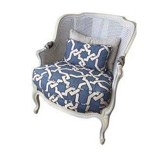 Roche Bobois Haendel Bergere Armchair For Sale