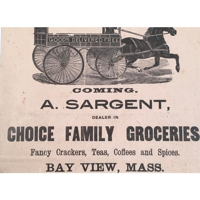 19th Century Rebus Grocery Wagon Advertisement Poster For Sale In Boston - Image 6 of 10