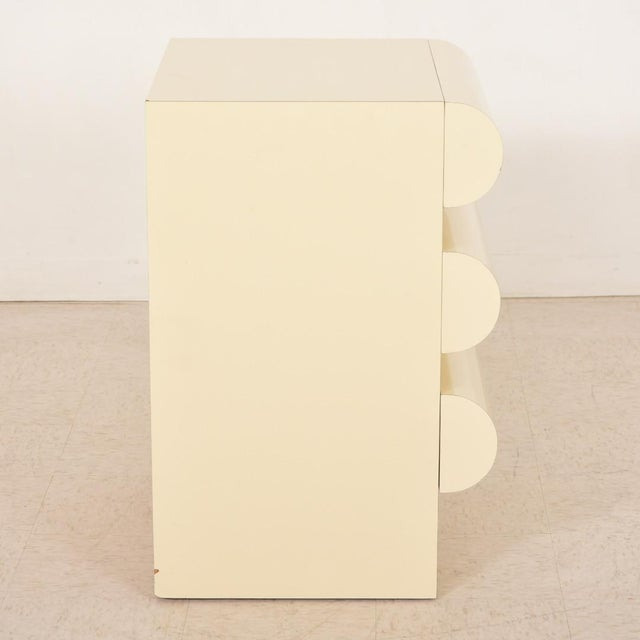 White 1980s Vintage Nightstands-a Pair For Sale - Image 8 of 13