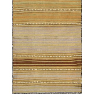 1940's Vintage Turkish Kilim Flat Weave Runner-2'5 X 10'1 Preview