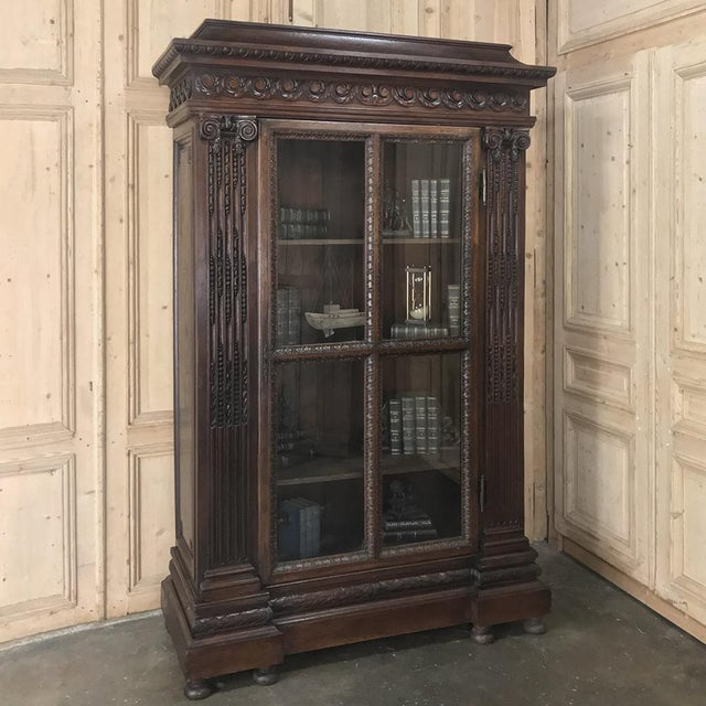 19th Century French Louis XVI Bookcase features classical motifs revived once again during the latter years of the 1800s,...