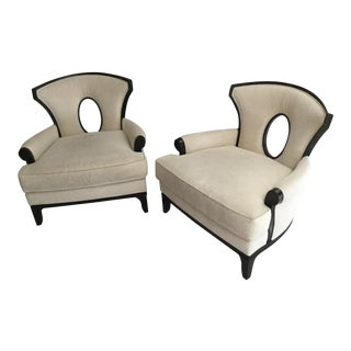 Barbara Barry Grace Lounge Chairs for Henredon - a Pair For Sale