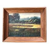Image of Original Vintage Impressionist Landscape Painting Signed For Sale