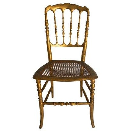 Vintage Chiavari Style Gold Chair - Image 1 of 5