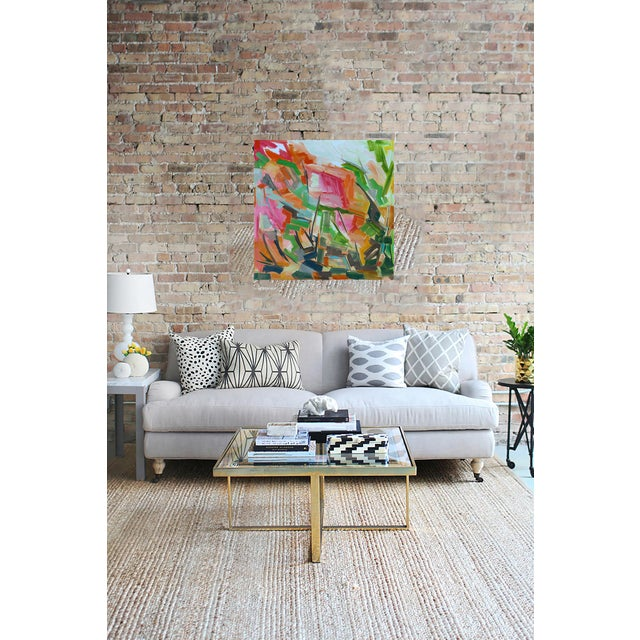 """Abstract Oil Painting by Trixie Pitts """"Peak Path"""" - Image 4 of 5"""