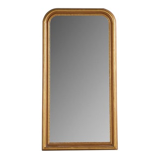 """Louis Philippe Style Gold Mirror, Grande 35"""" W X 70"""" H For Sale"""