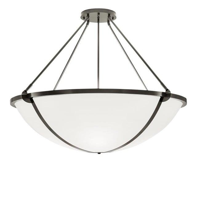 Mid-Century Modern Steel Grey Pendant Light For Sale - Image 3 of 3