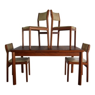 Jl Moller Mid-Century Furbo Teak Expandable Table and Chairs Dining Set