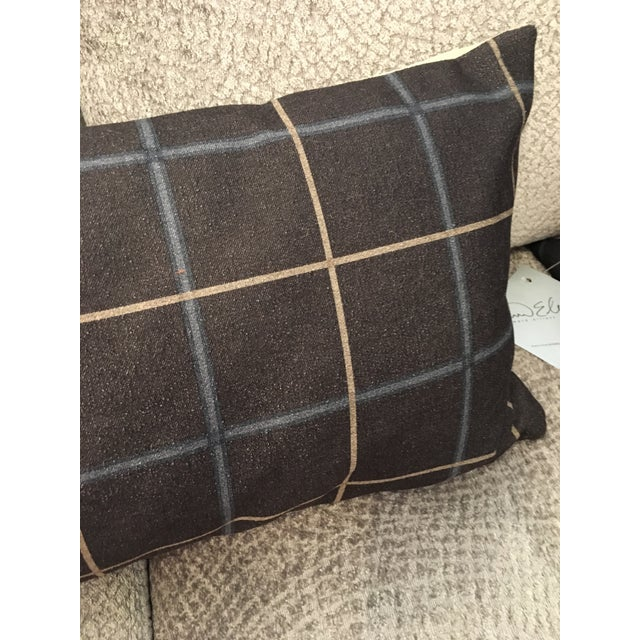 Cottage Oxford Slate Down Pillow For Sale - Image 3 of 6