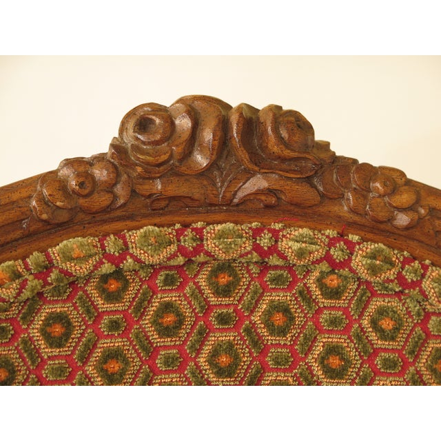 1990s French Louis XV Carved Walnut Dining Room Chairs - Set of 8 For Sale - Image 5 of 13