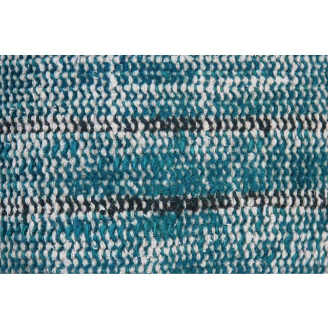 Turquoise Handmade Over-Dyed Rug Pillows - Pair - Image 5 of 7