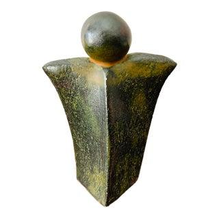 Barb Hertel Modernist Abstract Ceramic Signed Sculpture For Sale