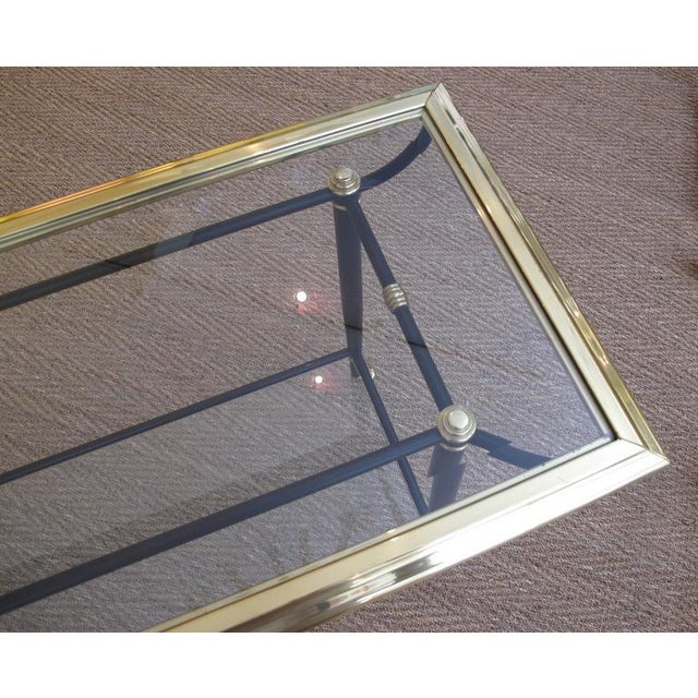 Good French 1960s Brass and Black Metal Console Table For Sale In San Francisco - Image 6 of 6